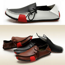 Men's Summer Splice Loafers Moccasin Boat Driving Lace up Walking Flat Shoes