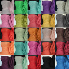 Premium Quality lightweight polycotton fabric material various colours Q460
