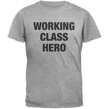 Working Class Hero Inspired By John Lennon Heather Grey Adult T-Shirt