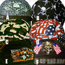 SALE 3 Do Mens Head Wrap Du Rag Skull Hat Bandana Lot Doo Biker Cap Motorcycle