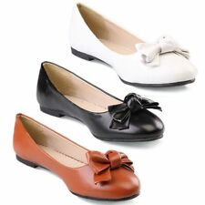TheMogan BOW Slip on Comfy APPLIQUE BALLET FLAT SHOES Casual Office Dress Up