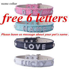 Personalized Dog Collar With Name Croc Leather Collar Small Free Up To 6 Letters