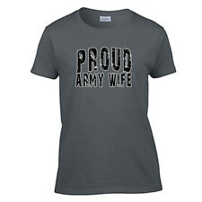 Proud Army Wife T Shirt Women's Military T-Shirt 3 COLORS
