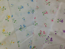 Poly Cotton Vintage floral Print fabric, Fat 1/4, 50x56cm  Meter x112cm  lengths