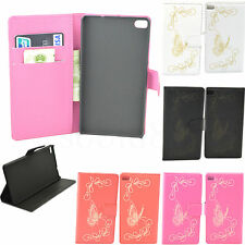 Flip Wallet Card Slots Pouch Phone Case PU Leather Cover For Huawei Ascend P8