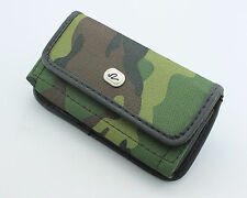 Premium Rugged Heavy Duty Camo Pouch Clip w/ Loop Cell Phone Cover Holster Case