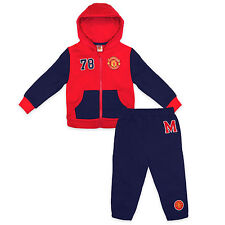 Manchester United Football Club Official Gift Baby Boys Jogset Tracksuit Red