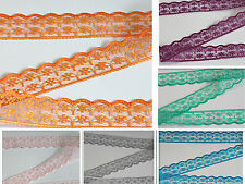 Wholesale embroidered lace ribbon unilateral 10/20/50/100yd 8Colors you choose