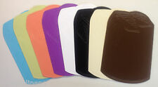 SET OF 6 NEW VINYL PLACEMATS, OVAL, SOLID COLOR, EASY WIPE CLEAN