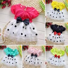 Toddler Baby Girls Princess Tutu Skirt Party Birthday Dots Tulle Dress 0-4T A85