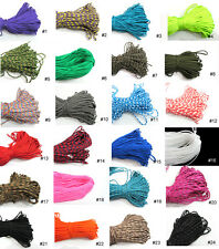 New 100ft Paracord Rope 7 strand Parachute Cord Survival CAMPING Color Pick