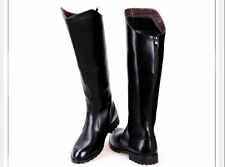Fashion Riding Boots Mens Military Boots PU Leather Knee High Equestrian Boots