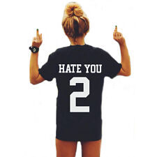 New Women Hate You 2 Tumblr Blogger Hipster Black T-Shirt Top Blouse Size S-XXXL