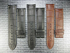 22mm Brown Leather Strap Curve Edge Light Pad Thin Watch Band LONGINES II