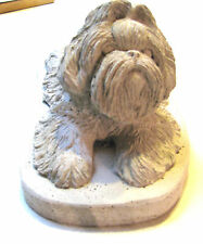 SOLID CONCRETE SHIH TZU DOG STATUE / MONUMENT