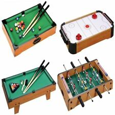 TABLE TOP GAME FOOTBALL KICKER AIR HOCKEY POOL SNOOKER TOY XMAS GIFT PLAY SET