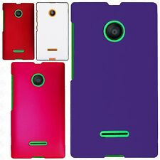For Nokia Lumia 435 Rubberized HARD Case Snap On Phone Cover Accessory