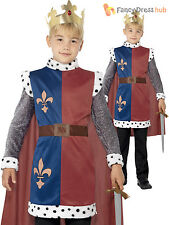 Boys Childs Deluxe King Arthur Fancy Dress Nativity Costume Medieval Knight