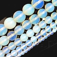 """White Opalite Round Beads 15"""" 4, 6, 8, 10, 12mm pick your size"""