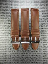 New 22mm Dark Brown Genuine CALF LEATHER STRAP Watch Band MOVADO BOLD 22 Style