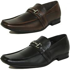 Mens Dress Shoes Slip on Buckle Loafers Tapered Fashionable Suede Leather Lined