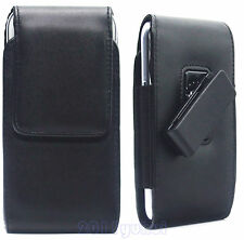 BLACK LEATHER CASE COVER+ROTATION BELT CLIP HOLSTER FOR SAMSUNG GALAXY S6 S6 S5