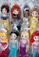 "Disney Princess soft/plush Muñeca 21 ""rapunzel/tiana/belle / poco mermaid/jasmine"