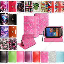 "New Printed PU Leather Universal 8""inch Smart Stand Case Cover For Tablet+Stylus"