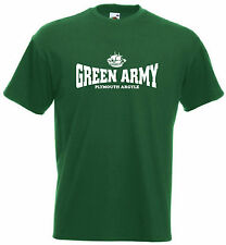 Green Army Plymouth Argyle Football Club FC Soccer T-Shirt- All Sizes Available