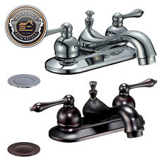 "4"" Centerset Bathroom Sink Faucet with Drain"