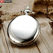 Classic Vintage Smooth Retro Pocket Watch Chain Quartz Pendant Antique Necklace