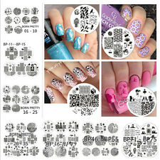 10Pcs/set Nail Art Stamp Stamping Plates Template Image Stencil