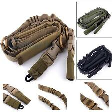 Heavy Duty Extend Padded Tactical Adjustable 2 Point Rifle Gun Strap Sling Hook