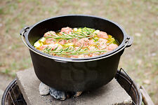 Kenley Cast Iron Dutch Oven Pre-seasoned Camping Cooking Stock Pot - 4.5Q / 6Q