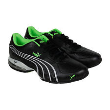 Puma Cell Surin Mens Black Silver Synthetic Athletic Lace Up Running Shoes