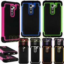 for LG G2 rugged hybrid rubber silicone havey duty shook proof case cover skin