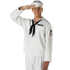 Adult White Navy Sailor Military Costume Role Play Officer Uniform Party Outfit