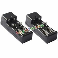 2 x Universal Charger For Li-Ion 14500 18650 16340 CR123 Rechargeable Battery
