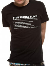 Official 5 Things I Like Video Games T-shirt - All sizes