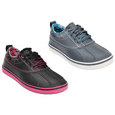 CROCS LADIES ALLCAST DUCK SPIKELESS GOLF SHOES - NEW LEATHER WATERPROOF 2015