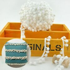 1/5/10yd 12mm Pom Pom Trim Ball Fringe Ribbon Sewing Accessory Lace