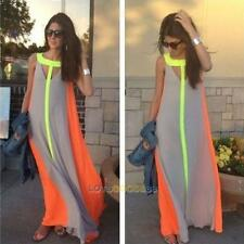 Women's Summer Boho Long Maxi Dress Evening Cocktail Party Beach Chiffon Dresses