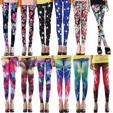 Women Colorful Galaxy Print Skinny Leggings Stretchy Sexy Jeggings Pencil Pants