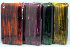 for iphone 3g 3gs hard back case cover black gold purple orange green /