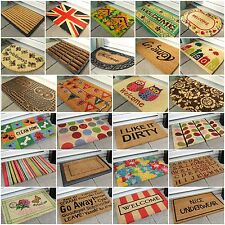 Plain Colourful Entrance Coir Rubber Door Mats Small Large Thick Thin Outdoor