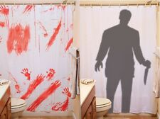 Creepy Horror BLOODY SHOWER CURTAIN or STALKER Halloween Decorations