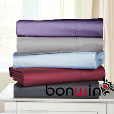 900TC 100% PURE COTTON COLLECTION  FITTED / FLAT BED SHEET SET 9 COLOURS