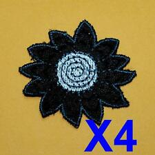4 Flower Floral Sew on Patch Cute Applique Badge Embroidered Nature Lace Lots