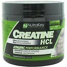 Nutrakey CREATINE HCL 125 Servings Build Muscle Strength Performance PICK FLAVOR
