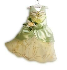 Disney Store Deluxe Princess & the Frog Tiana Costume Dress sz 3 4 5/6 7/8 9/10